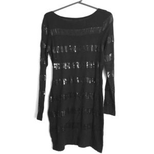 Magaschoni Sequin Striped Dress